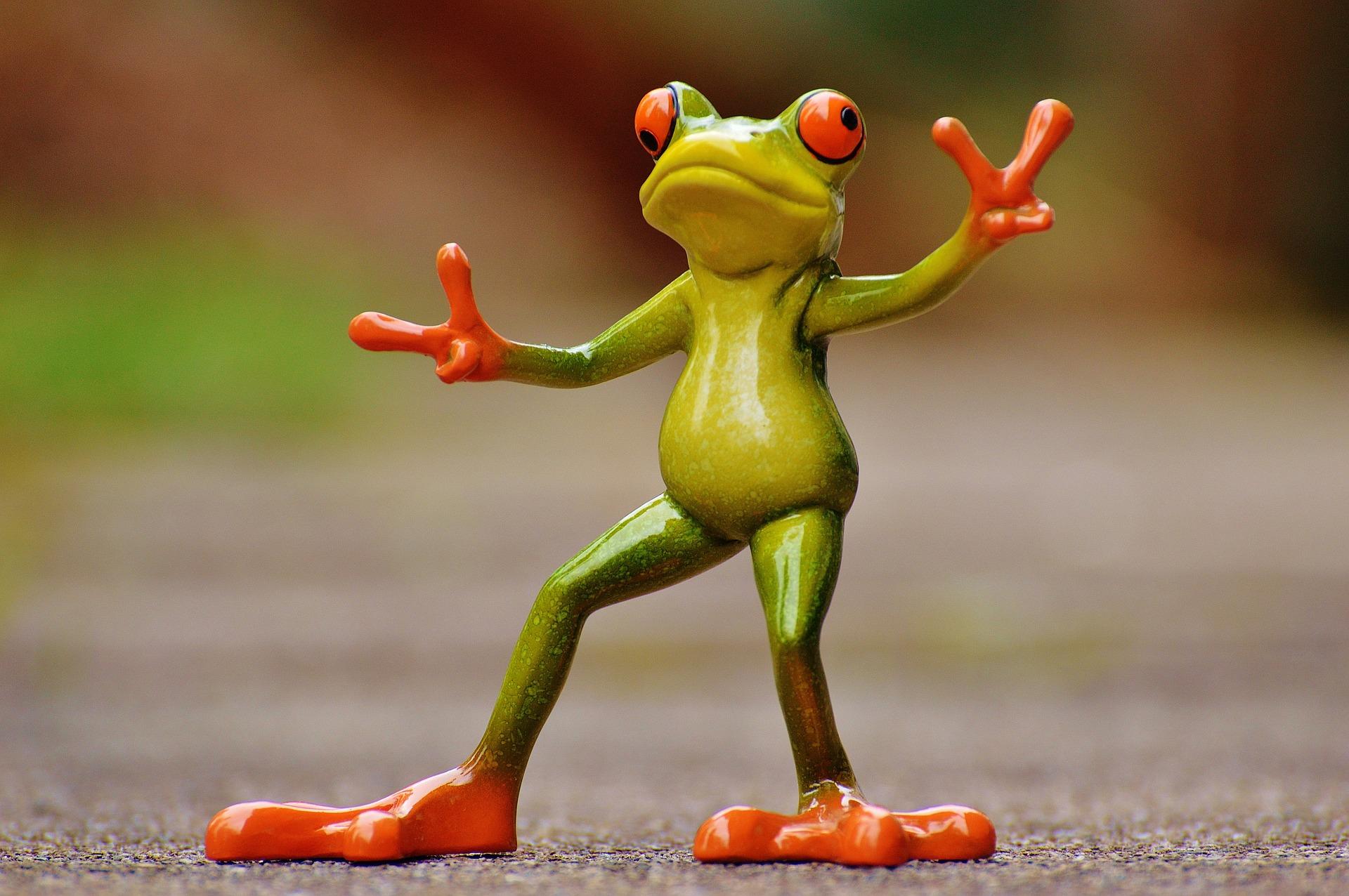 frosch, gestik, eindruck