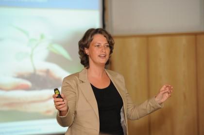 Magda Bleckmann am Aschaffenburg Forum