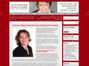 Gastbeitrag bei Anne M. Schüller zu Influencer-Marketing