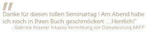 Zitat Gabriele Kraxner Seminar