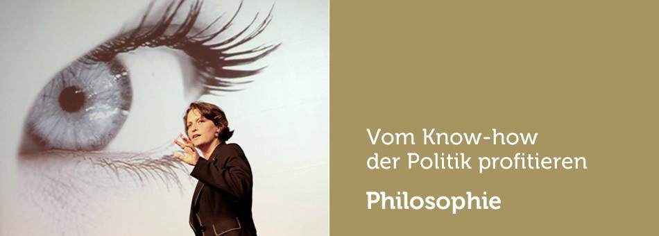 Philosophie: Vom Know-How der Politik profitieren