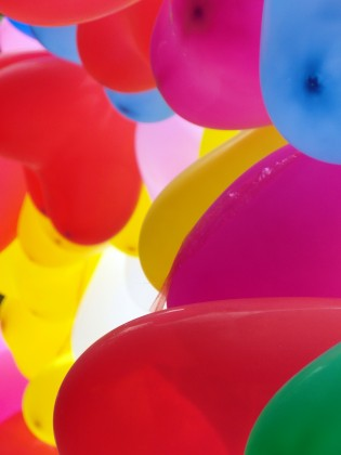 Bunte Luftballone